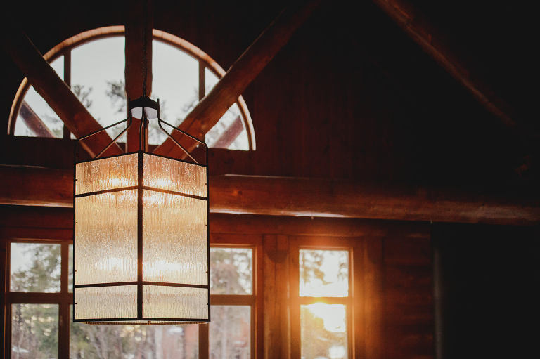 wood cabin wedding day flare