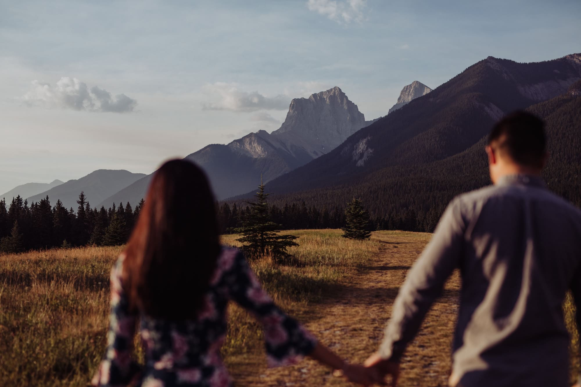Banff Montreal Wedding Canmore Engagement Quarry Lake Montreal Traveling Destination Photographer Brent Calis Field Mountains Three sisters