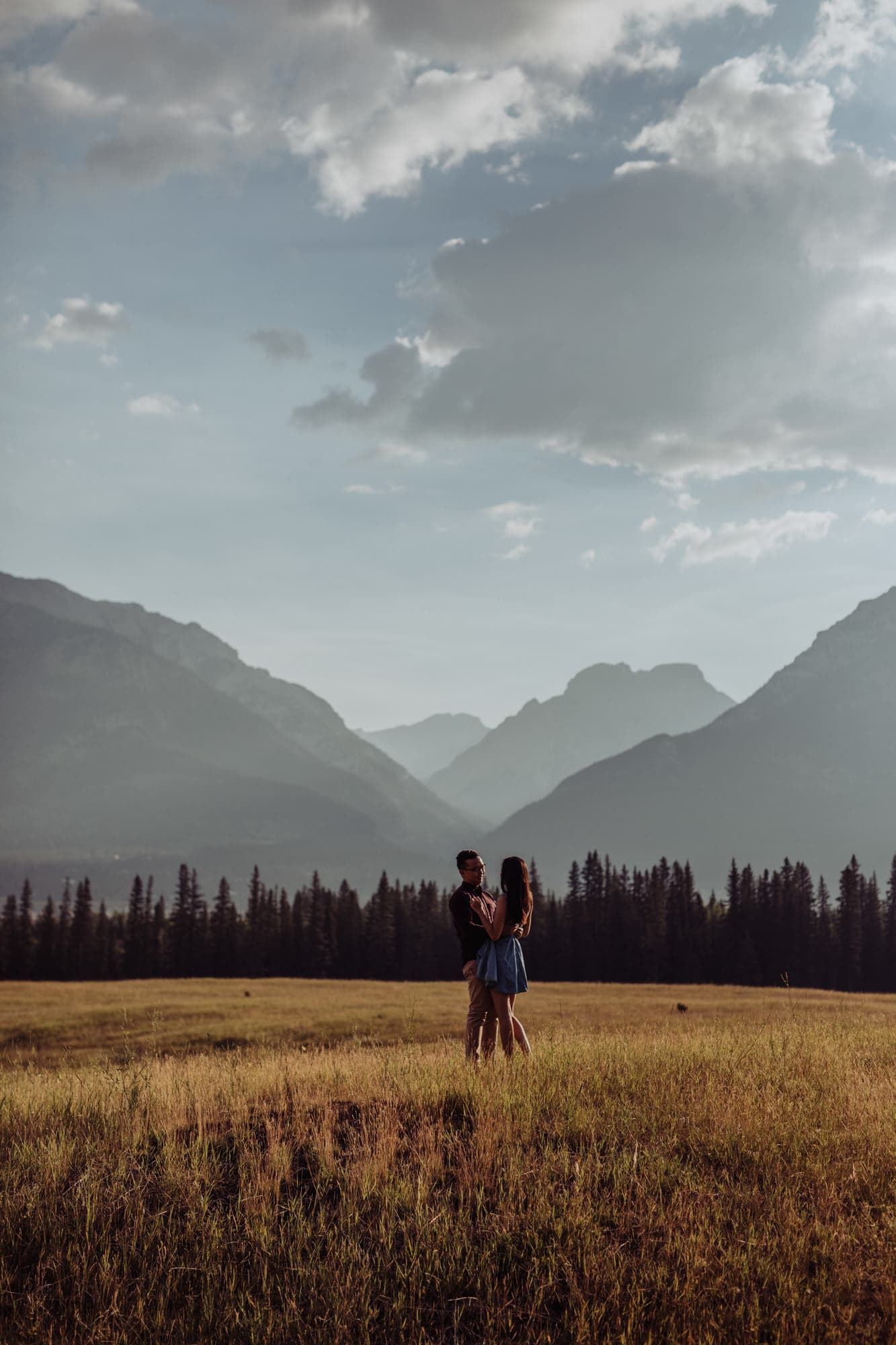 Banff Montreal Wedding Canmore Engagement Banff Montreal Traveling Destination Photographer Brent Calis Field Mountains
