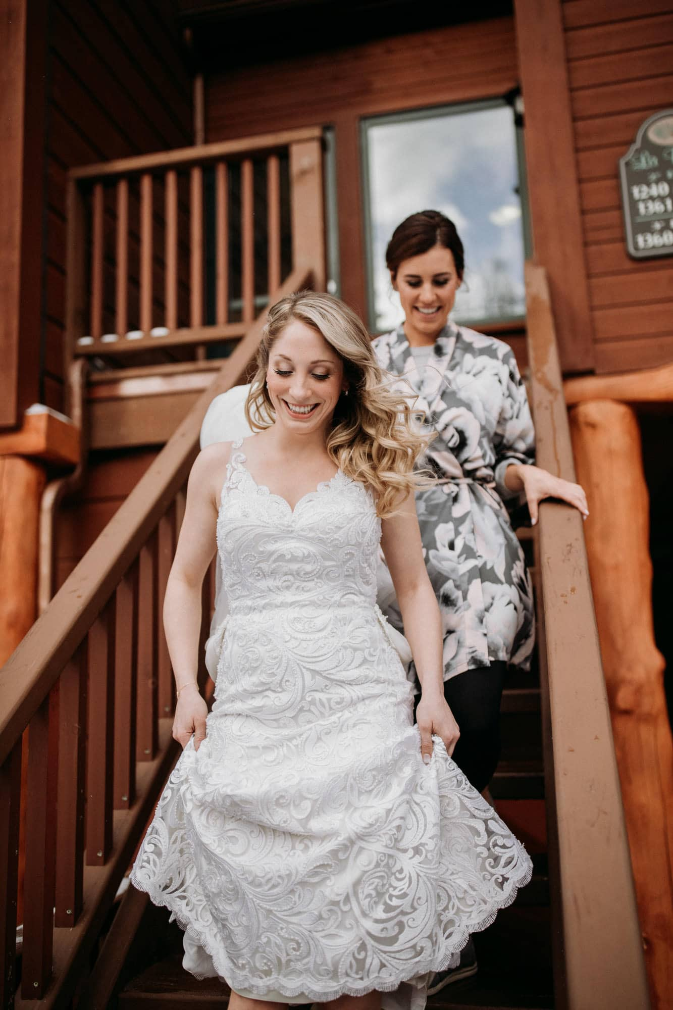 bride maid of honour first look