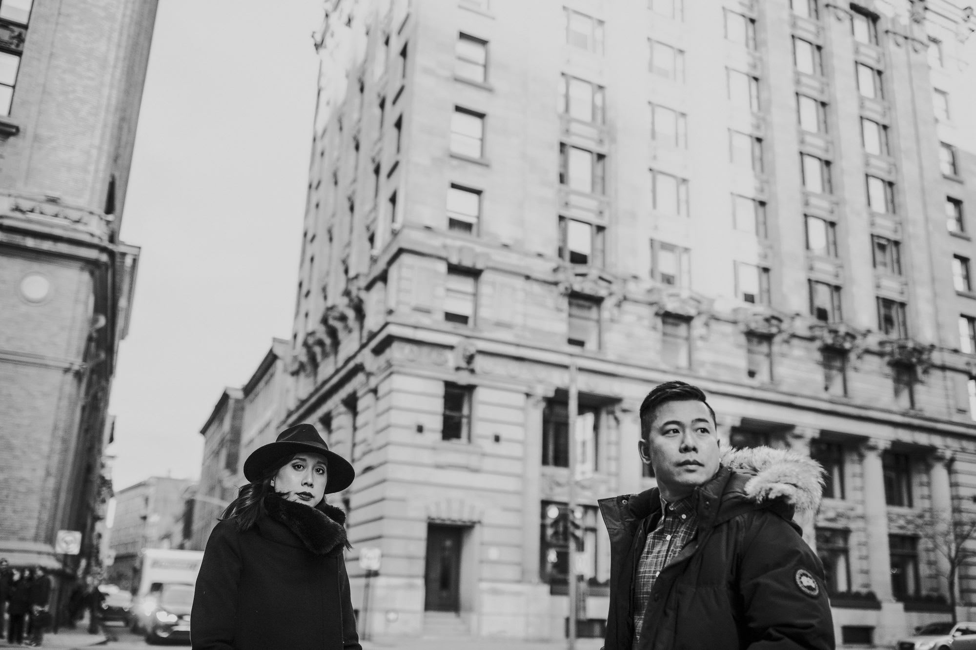 Wedding Photographer Engagement Session Old Montreal Vieux Montreal Port Street