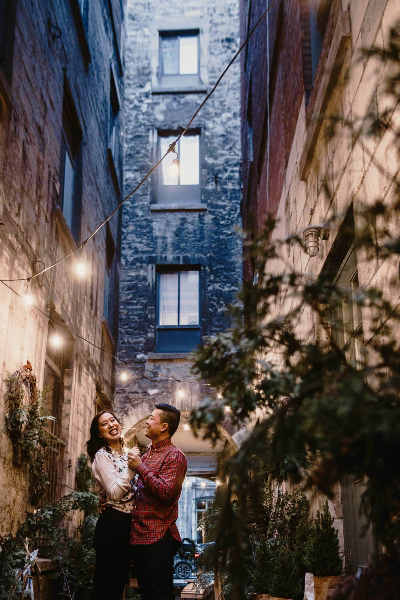Wedding Photographer Old Montreal Vieux Montreal Port Alley Christmas Market