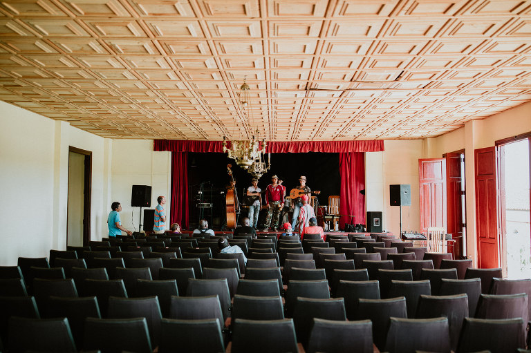 Concert hall in Vinales, Cuba. Wedding and travel photographer Brent Calis.