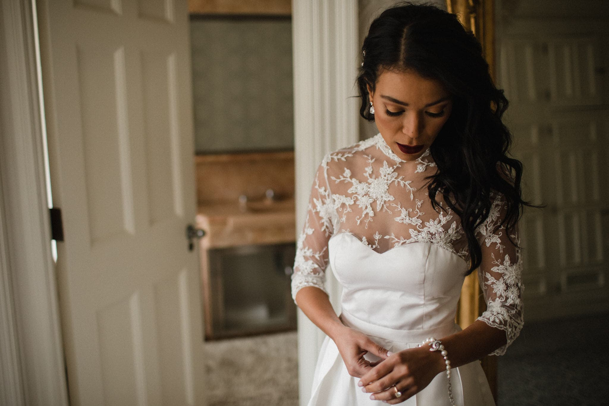 Bride getting ready at Graydon Hall Manor Wedding in Toronto