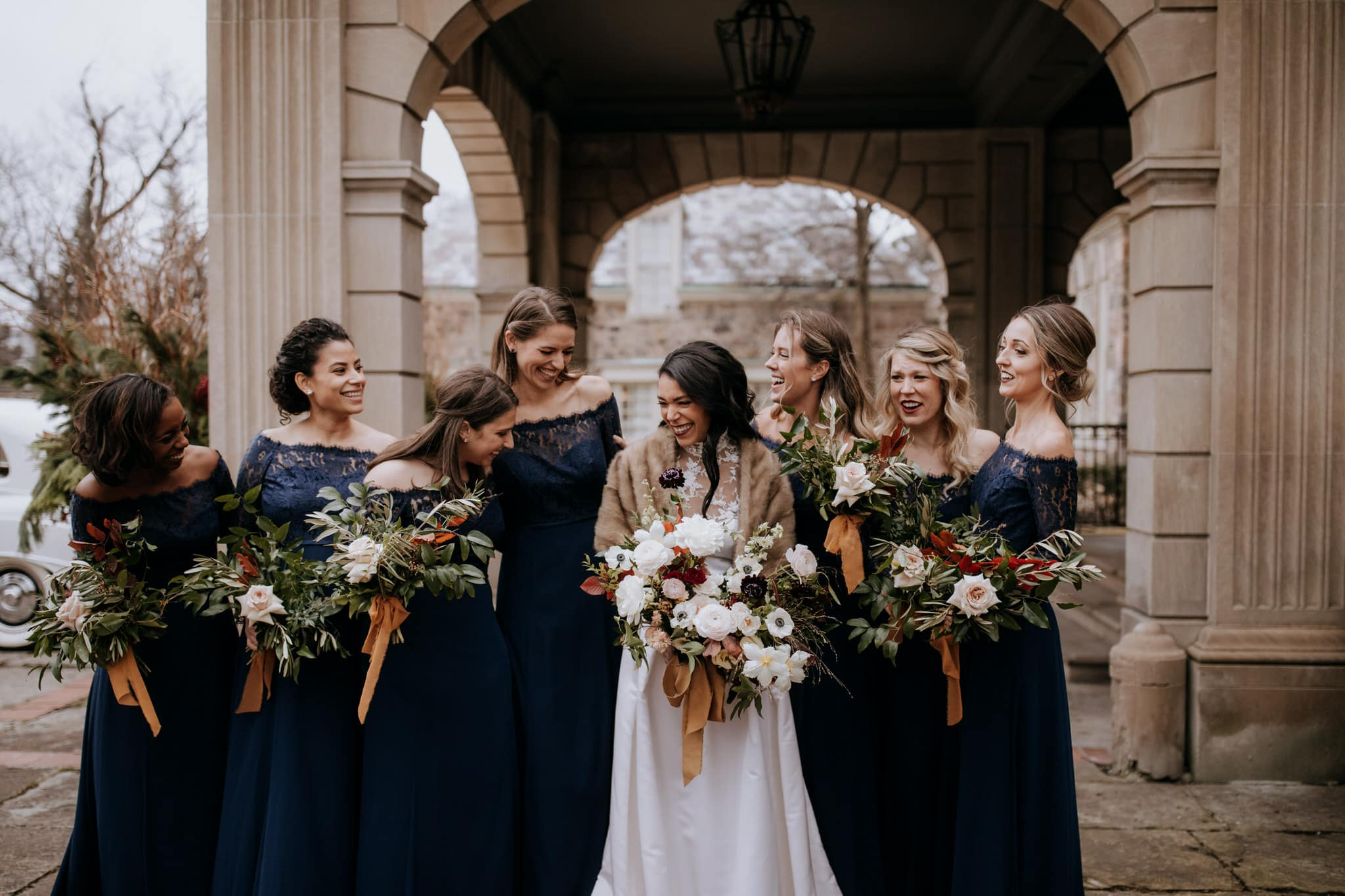 Bridal party at Graydon Hall Manor Wedding in Toronto